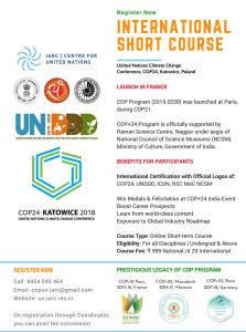 COP24 International Climate Change Program 2018-19 Official Poster